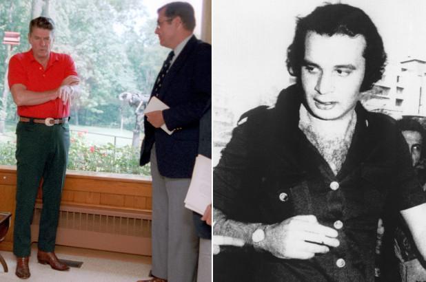 İki ayrı görüntü-Ali H. Selame, 1970'ler Beyrut- R. Reagan ve ajan Robert Ames, 1982 ABD .jpg