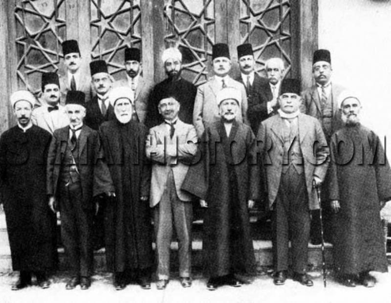 M. Kurd Ali ve Arap Dil Akademesi kurucularıyla. jpg.jpg