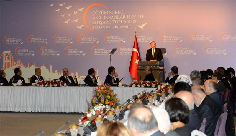 Erdoğan'ın Akil İnsanlar Heyeti ile buluşması