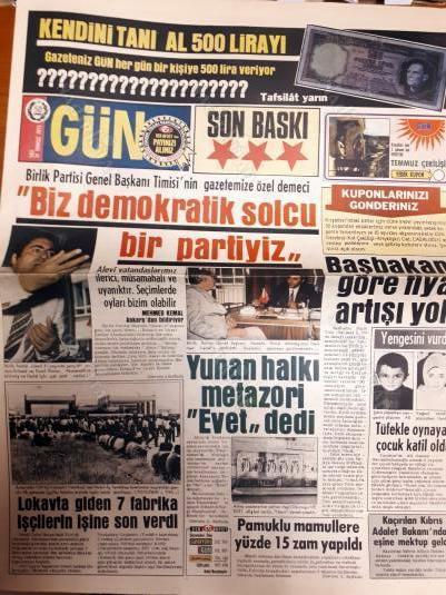 31 Temmuz 1973 tarihli GÜN gazetesi, M. Timisi'nin demecini yayınlamış_.jpg