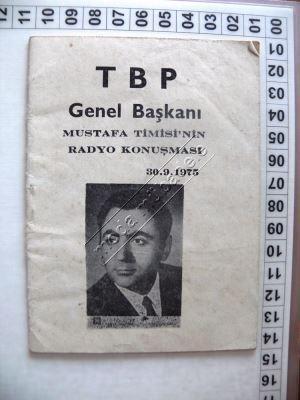 Timisi'nin radyo konuşması duyurusu, 30 Eylül 1975.jpg