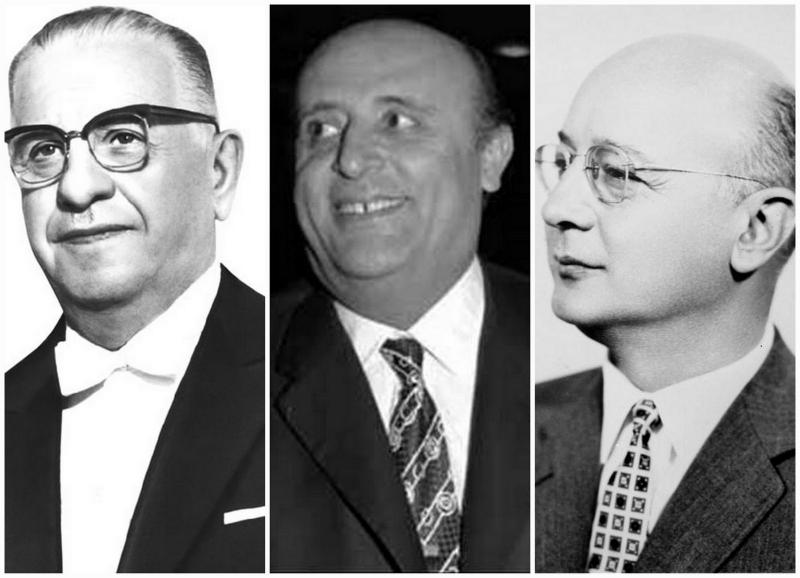 Cumhurbaşkanı Cevdet Sunay, Darbe öncesi Başbakan Süleyman Demirel İkilisi ve ayrıca  Darbenin ilk Başbakanı Nihat Erim.jpg