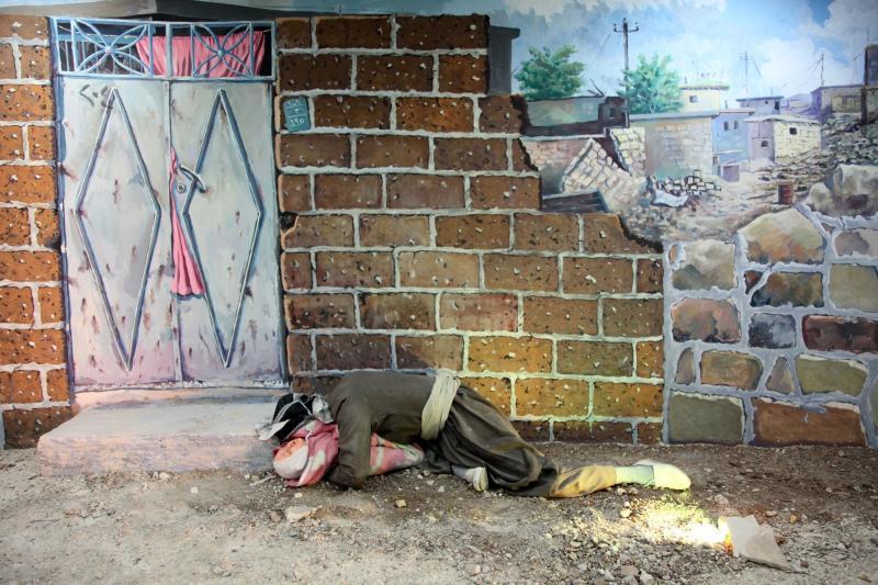 Gazeteci Ramazan Öztürk'ün çekmiş olduğu fotoğrafın tuvale yansıtılmış hali
