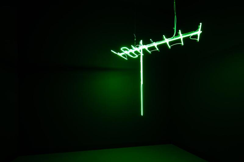 Ahmed Mater, Antenna (Green), 2010. From the series Antenna. 150 x 150 x 50 cm. Courtesy of a private collection. Photo  Riyadh Art 2021.jpg