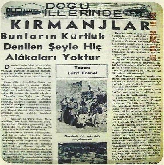 Kırmanjların Kürt olmadıklarına dair bir gazete yayını.jpg
