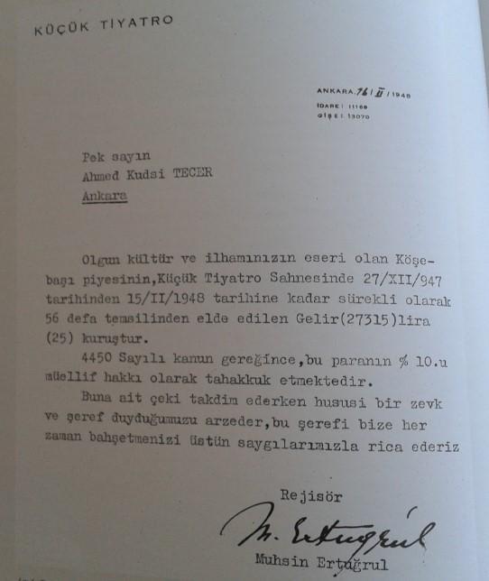 60.Yılında Küçük Tiyatro ve Köşebaşı, Devlet tiyatrosu Yayınları, Ankara 2007.jpg