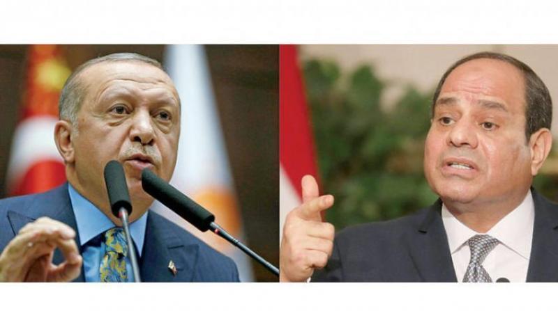 Erdoğan ve Sisi-İki ülke arasındaki görüşme maddelerinden biri de Ihvan'ın geleceği .jpg