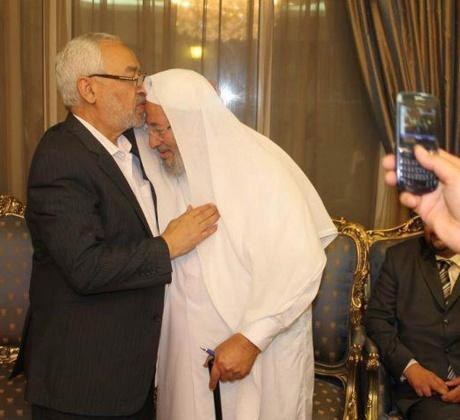 El Nahda lideri R. Gannuşi ile Y. El Qardawi buluşması.jpg