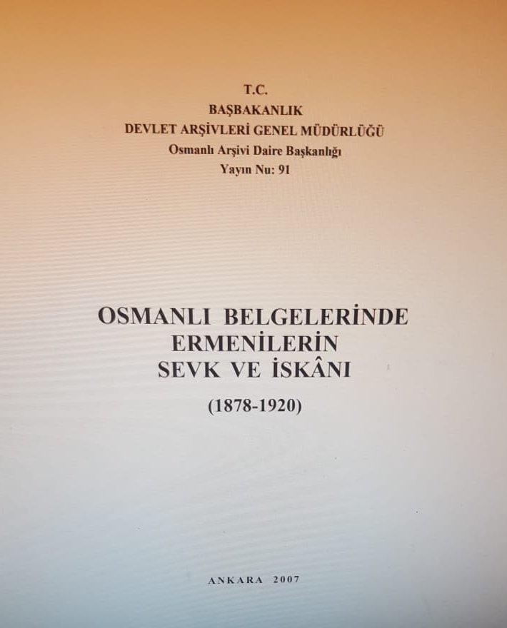 Osmanlı arşivinde Ermenilerin sevk ve idaresi belgelerini içeren kitap.jpg