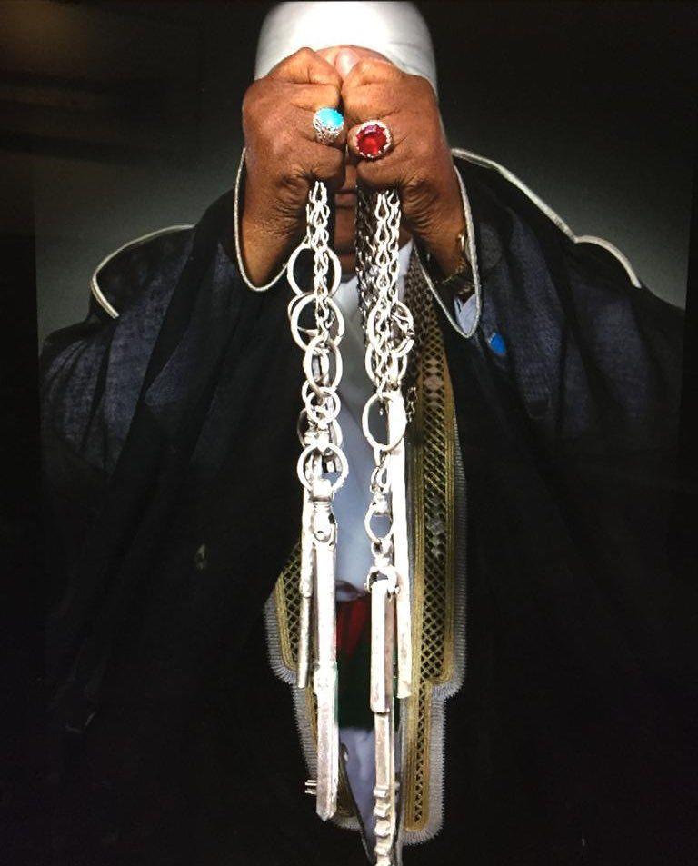 Hz. Muhammed'in Mescidi Nebevî'deki odası ve kabrinin bulunduğu bölmenin anahtarları.jpg