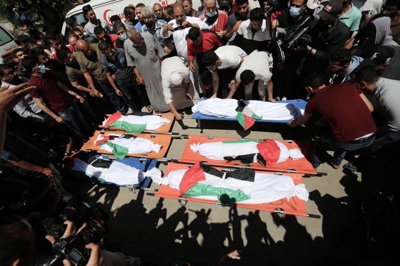 çocuk cenazeleri Gazze- İsrail saldırısı- Independent Türkçe.jpg