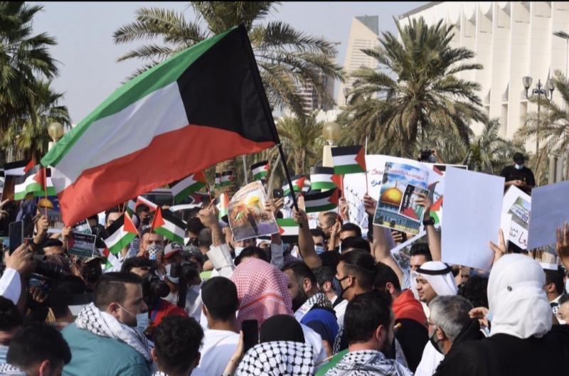 1948'den  beri İsrail yönetiminde yaşayan Filistinlilerin saldırıyı protesto eylemi-kaynak-Naomi xia11 paylaşımı .jpg