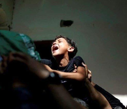 Yakını öldürülen Filistinli çocuğun çığlığı.jpg