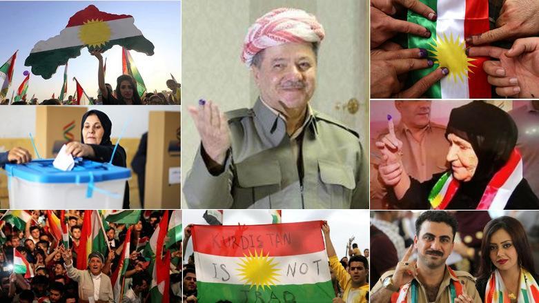 2017 Iraklı Kürtlerin bağımsızlık referandumuna Türkiye, İran, Irak ve Suriye karşı çıkmış, ABD ile Avrupa devletleri de siyasi uyarıda bulunmuş.jpg