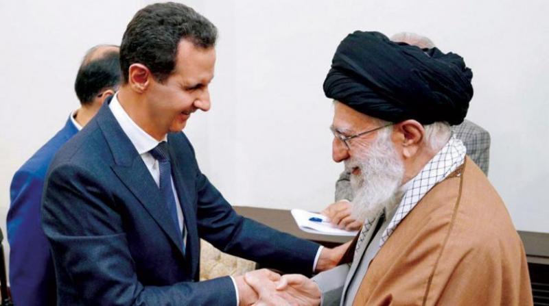 Beşar Esad ve Ali Hameney,  ABD'nin Irak işgali ve Kürt devletinin kurulma ihtimalini görüşmüşler-kaynak-Şark'ül Avsat  .jpg