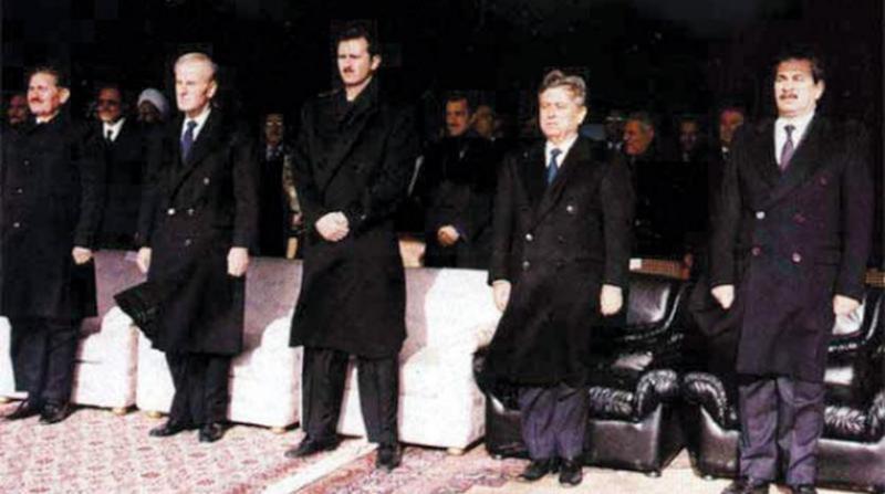 Hafız Esad, Beşar Esad ve Abdulhalim  Haddam-kaynak-Şark'ül Avsat .jpg