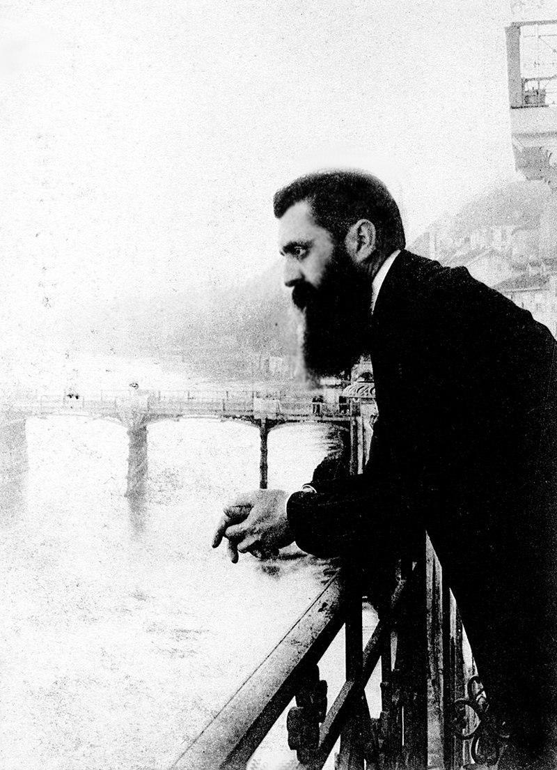 Theodor Herzl, Basel şehrinde 1897.jpg