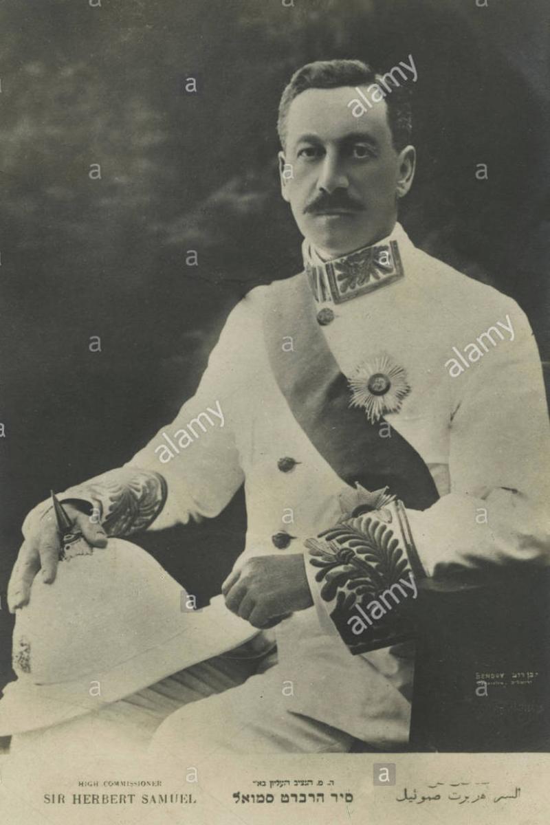 İngiltere Dışişleri Bakanı Herbert Samuel, 1920-24 yılları arasında Filistin Yüksek Komiseri olmuştu. .jpg