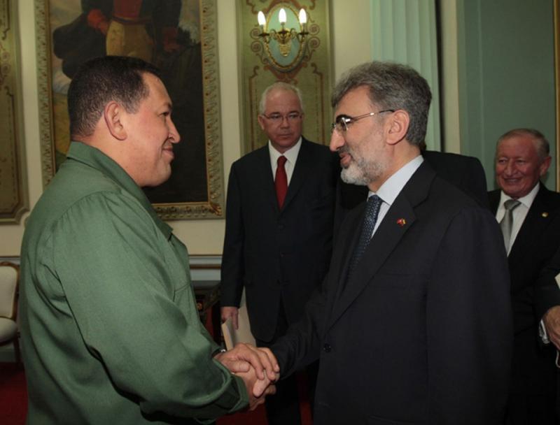 Hugo Chavez Taner Yıldız AA