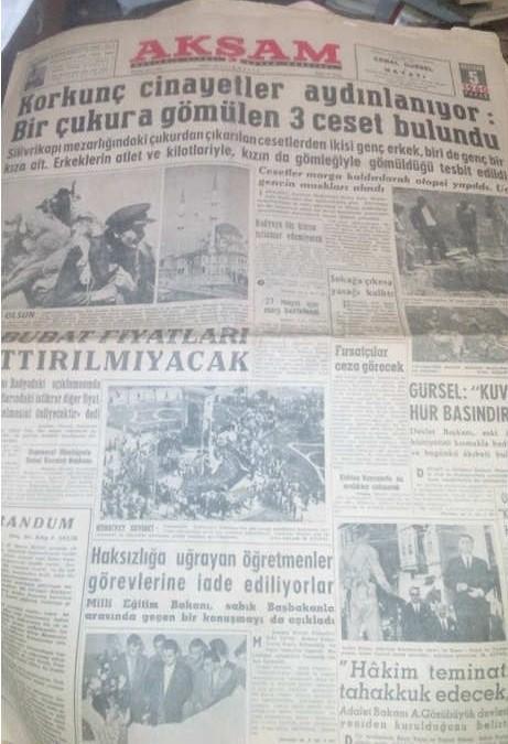 AKŞAM GAZETESİ-5 HAZİRAN 1960-KORKUNÇ CİNAYETLER AYDINLANIYOR.jpg