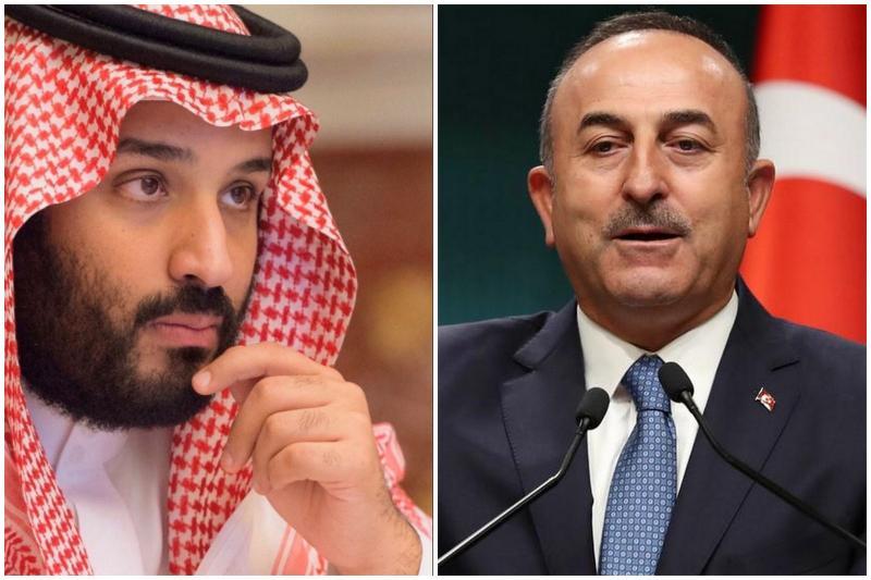 Mevlüt Çavuşoğlu ile Muhammed bin Salman- Ray El Yom gazetesi, kimin kime taviz verdiğini haber verdiğini irdeliyor.jpg