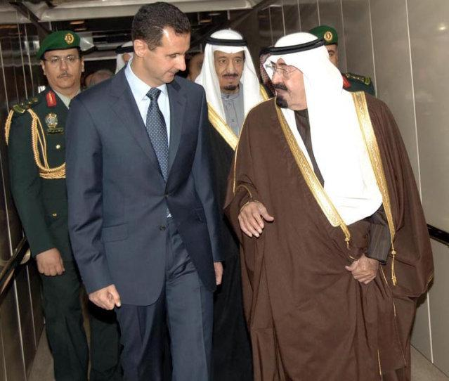 Suriye Cumhurbaşkanı Beşar Esad ve eski Suudi Kralı Abdullah,yeni  ilişki kuruluyor.jpg