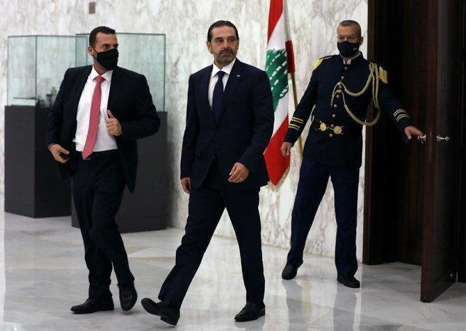 Hükümeti kurmakla görevlendirilen istifa etmiş Başbakan Saad Hariri, .jpg