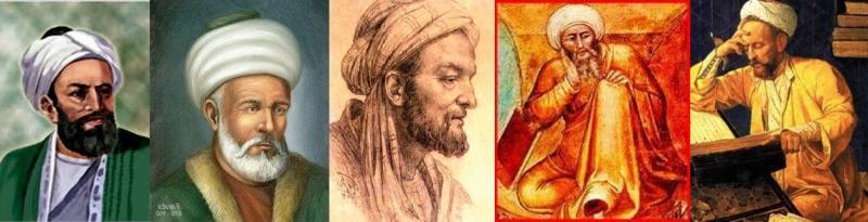 El Kindi, Farabi, İbn-i Sina, İbn-i Rüşd, Gazali.jpg