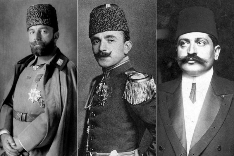 (Soldan sağa) Cemal Paşa, Enver Paşa ve Talat Paşa.jpg