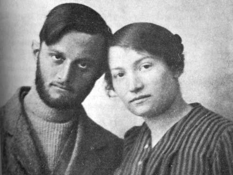 Enişte Avşalom Feinberg ile baldızı Sara Aaronsohn-Aile boyu casusluk-Yılı 1916.jpeg