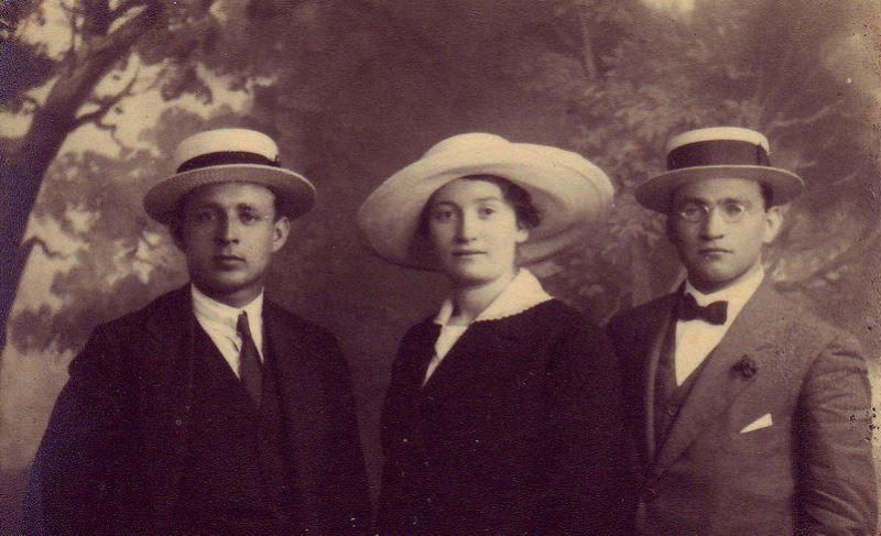 NİLİ casusluk şebekesinin üç önde gelen kadrosu- Yosef Lishansky, Sara Aaronsohn ve Lyova Shneerson.jpg