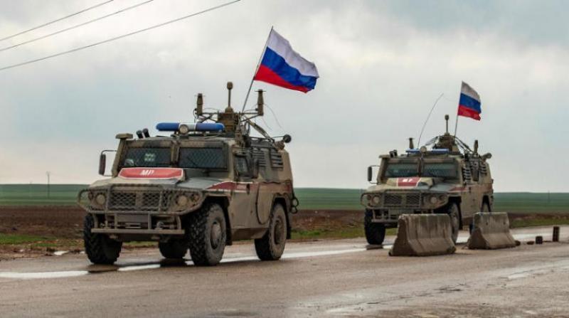Rus devriyesi Suriye-Haseki yöresinde. Fotoğraf, AFP.jpg