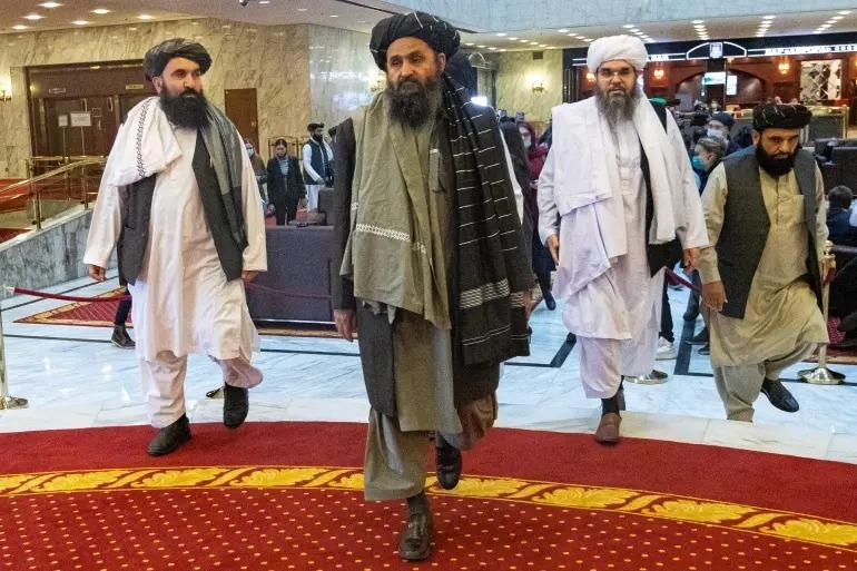 Taliban müzakerecisi Molla Abdulgani Berdar Moskova'da, Kaynak-El Cezira TV sitesi.jpg