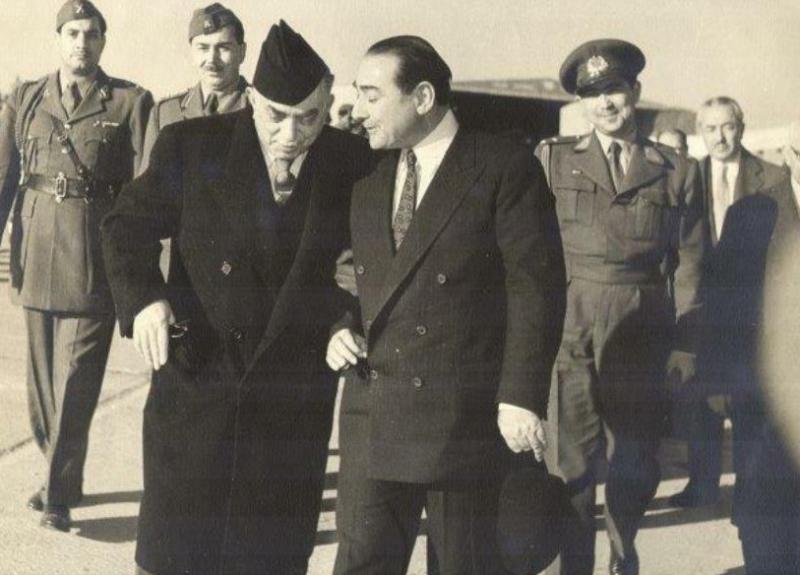 Irak Heyeti Başkanı Nuri Said Paşa,  Şubat 1956'da Adnan Menderes'i ziyaret etmişti.jpg