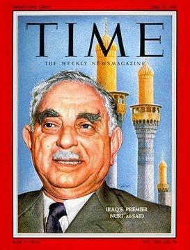 Kudretli Iraklı siyasetçi Nuri Said Paşa, Time dergisinde .jpg