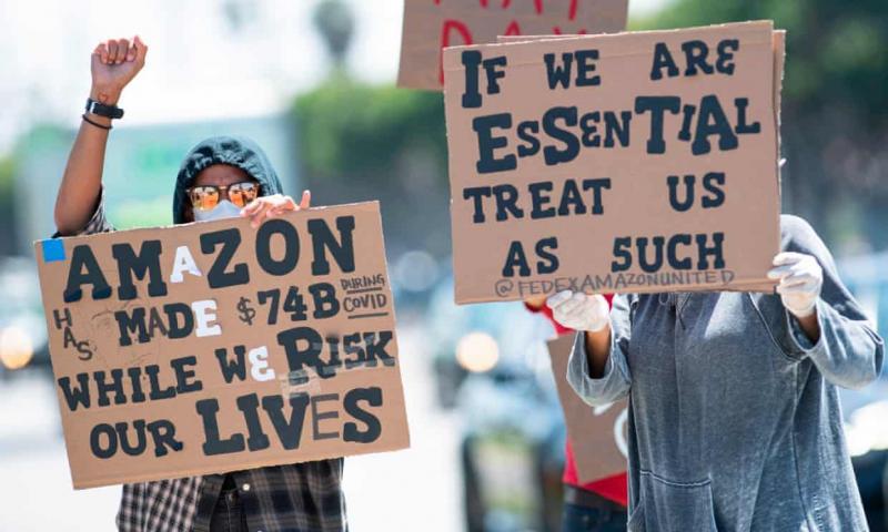 Amazon protesto AFP