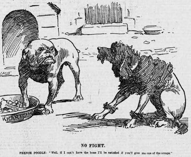 Fashoda Hadisesi dair bir karikatür (1898).jpg
