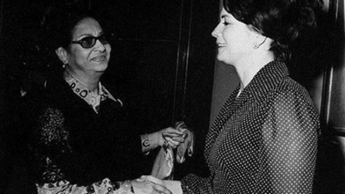 Ünlü ses sanatçısı Ümmü Gülsüm ile Cihan Sedat.jpg