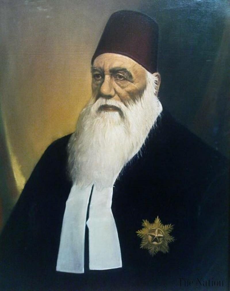 Aligarh Meresesi kurucusu Sir Seyyid Ahmed Han-kaynak, mecra sitesi.jpg