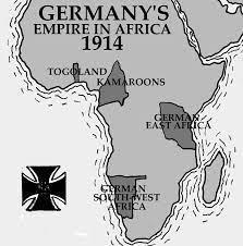Birinci Dünya Savaşı'nın başlarında Almanya'nın Afrika'daki sömürgeleri.jpg