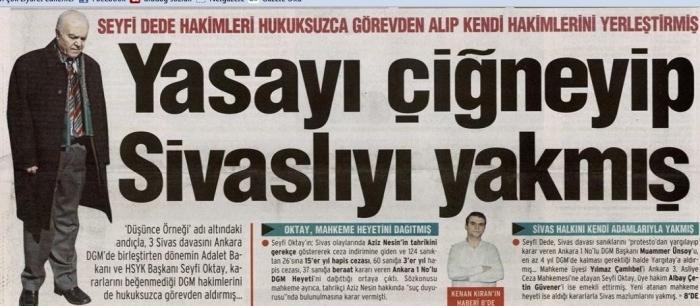 S. Oktay'ı karalamaya yönelik ayrımcı ve düzmece  bir haber başlığı .jpg