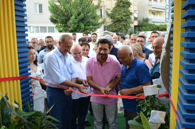 Emekli Seyfi Oktay, Didimspor tesislerinin açılış töreninde. 6 Ağustos 2017.jpg
