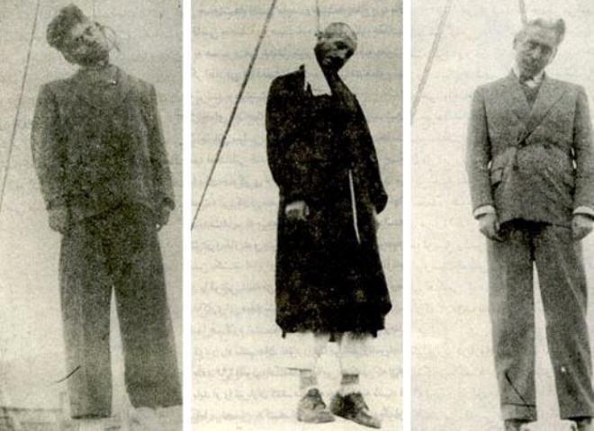 Mahabad düştükten sonra idam edilen Kürt liderleri.jpg