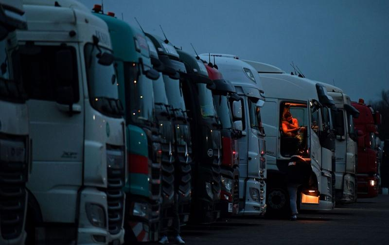 İngiltere kamyon AFP