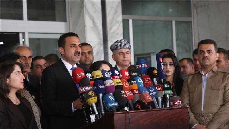 Erbil Valisi Umid Xoşnav, konferansın talepleri  Kürdistan yönetiminin politikasına aykırıdır dedi. Kaynak ve foto-A.A. .jpg