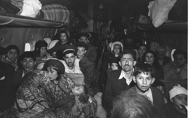Iraklı Yahudiler, Lûd Havaalanına iniyorlar. 1 Mayıs 1950. Kaynak-GPO, Brauner Teddy .jpg