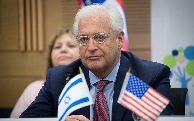 Siyonist politikasını teşvik edip destekleyen ABD'nin İsrail Kudüs'teki eski büyükelçisi David Friedman .jpg