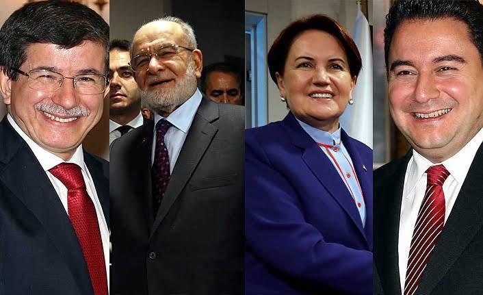 A. Davutoğlu, T. Karamollaoğlu, M. Akşener ve A. Babacan. Son aylarda gündemi muhalefet parti başkanları belirliyor.jpg