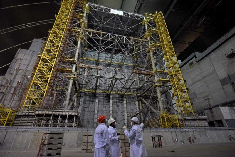 Yeni Güvenli Kapatma (NSC) bölgesi ve başarısız Reactor 4.Fotoğraf.jpg