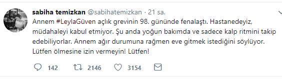 sabiha temizkan tweet